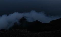 Peering Into Stromboli's Crater (Derbyshire Harrier) Tags: red cloud mist rain vent lava evening spring mediterranean dusk windy steam gas crater summit glowing geology eruption stromboli tyrrheniansea fumes 2016 activevolcano tyrrhenian sciroccowind 926m strombolianexplosion aeoliianislands