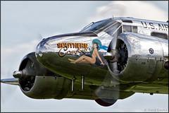 Beech C-45 Expeditor (Pavel Vanka) Tags: plane airplane fly flying airshow czechrepublic beechcraft propeller aeroclub beech spotting warbird c45 expeditor beech18 twinbeech plasy beechcraft18 lkps