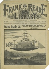Steampunk airship dime novel (steammanofthewest) Tags: airship sciencefiction 1893 steampunk dimenovel frankreade