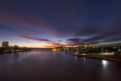 After Sunset Over The River (satochappy) Tags: bridge sunset shadow river twilight sydney australia nsw ryde parramatta meadowbank parramattariver rydebridge uhrspointbridge