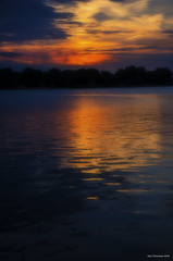 Sunset On The River. LaSalle, ON. (Pat86) Tags: sunset lasalle detroitriver photooftheday