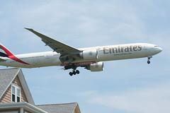 IMG_2592 (wmcgauran) Tags: boston airplane airport aircraft aviation emirates boeing bos 777 eastboston kbos a6ecp