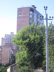 Walk in Kalininskiy district 17/06/2016 (Souls_Eater) Tags: road street city blue trees light sunset summer sky urban plants sun tree green lines sunshine june skyline modern clouds contrast buildings walking wire day cityscape walk picture like ukraine coloring crosswalk urbanphotography donetsk  donbass cityphotography