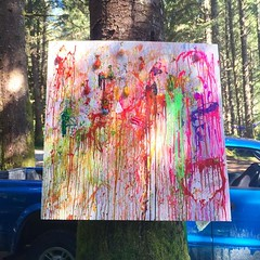 Not every day you get to watch collaborative art get made. While in a forest. This piece was in an art camp (that had custom coloring books!) at #otherworld, the #burningman regional for #victoria. So fun! #pachenabay #vancouverisland #canada #art #wander (ClevrCat) Tags: camp canada get art forest that fun for this was day you watch books victoria an wanderlust made burningman vancouverisland every coloring while had piece custom collaborative regional otherworld not so pachenabay traveladventures instagram ifttt