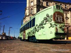 Bonde Caf (Stefan Lambauer) Tags: street old coffee caf downtown centro tram porto santos tramway bonde 2016 bolsadocaf valongo stefanlambauer ruatuiut
