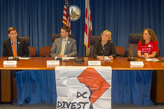 DC's Divestment from fossil fuels press conference