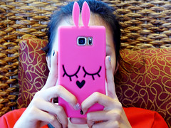 Watching... (Roving I) Tags: bunny bunnies design highlands vietnam rabbitears cafes danang cases nailart eyesshut smartphones vincom whickerchairs trishngo