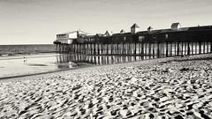 OOB (Linda Kosidlo) Tags: ocean summer monochrome pier maine oldorchardbeach odc oob