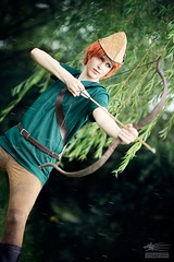 The Legend of Sherwood (Snowgrimm) Tags: green rain costume fighter cosplay disney bow hero arrow robinhood heroic crossplay itazura