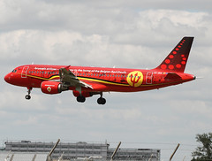 """Brussels Airlines """" LIVERY """"RED DEVILS"""". (Jacques PANAS) Tags: brussels airlines airbus a320214 oosna msn1441"""
