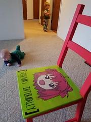 Day 182: [screams internally] (quinn.anya) Tags: paul sam chair anime screamsinternally painting floor toddler baby crawling day182 525600minutes