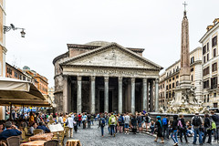 The Pantheon (2) (BAN - photography) Tags: rome tower fountain columns pantheon tourists cobblestones piazza cafes