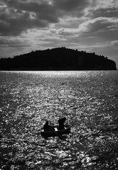 Fishing (skoselphoto) Tags: fishermen croatia citywalls rowboat oldtown dubrovnik adriatic 2015