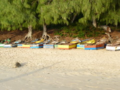 Boats on Tofo Beach