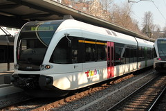 Thurbo => Die Regionalbahn ( SBB )  GTW RABe 2/8 526 758 AKL ( Gelenk - Triebwagen - Nahverkehrszug dreiteilig => Inbteriebnahme 2006 ) von Stadler Rail mit Taufname Sargans am Bahnhof St. Gallen im Kanton St. Gallen in der Schweiz (chrchr_75) Tags: chriguhurnibluemailch christoph hurni schweiz suisse switzerland svizzera suissa swiss chrchr chrchr75 chrigu chriughurni mrz 2015 chriguhurni albumbahnenderschweiz albumbahnenderschweiz201516 schweizer bahnen eisenbahn bahn train treno zug albumzzz201503mrz albumbahnthurbo thurbo regionalbahn tralin juna zoug trainen tog tren  lokomotive  locomotora lok lokomotiv locomotief locomotiva locomotive railway rautatie chemin de fer ferrovia  spoorweg  centralstation ferroviaria