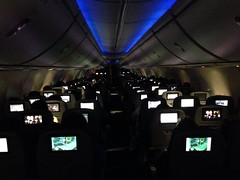 Plane of screens