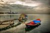 Izmir (Nejdet Duzen) Tags: trip travel sea reflection turkey boat jetty türkiye deniz iskele sandal warship izmir yansıma turkei seyahat kayık inciraltı savaşgemisi