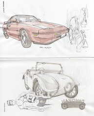 Toyota MR-2 / Hanomag Komißbrot (Flaf) Tags: auto colour cars water car museum pen pencil ink vintage automobile drawing sketchbook since toyota florian crayon sketches ever siegen dortmund mr2 hanomag komissbrot afflerbach