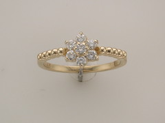 !4kt yellow gold diamond ring