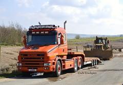 Scania 144L T Cab,Kenny Blain Heavy Haulage,Widnes. (RAM TRANSPORT IMAGES) Tags: transport vehicles trucks scania wagons logistics commercials merseyside lorries widnes haulage heavyhaulage hgvs lowloaders kennyblain