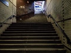 dark steps (grapfapan) Tags: old berlin station sbahnhof yorckstrase