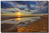 Setting Sun x2 (Fraggle Red) Tags: sunset sun water clouds reflections river sand shadows florida dunes inlet staugustine hdr matanzasinlet saintaugustine 7exp matanzasriver canonef1635mmf28liiusm dphdr stjohnsco canoneos5dmarkiii 5d3 5diii adobephotoshopcs6 adobelightroom5