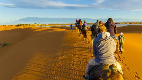 Rückweg in der Wüste