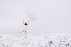 (tikhonovich_anna) Tags: winter girls ice girl balloons wind