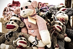 Sock Monkeys (sjoblues) Tags: stuffedtoy toy puppet stuffedanimal sockmonkey