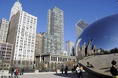 Michigan Avenue, coming and going (V. C. Wald) Tags: chicago millenniumpark cloudgate thebean publicsculpture anshkapoor