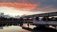 20151001_192240 (Passport to the Parks) Tags: sunset epcot dusk monorail