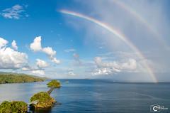 Rainbow Dominican Republic (CHRiiZ) Tags: ocean travel sky cloud rot landscape rainbow nikon meer dominicanrepublic outdoor urlaub himmel wolken cloudporn dominica d5100 chriiz diminikanischerepublik