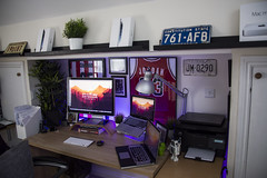 Office June 2016 (Bridge Computers) Tags: ikea home apple june work office mac desk working workspace setup lifehacker 2016 macbookpro cinemascreen