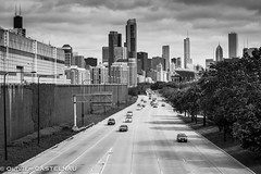 Lake Shore Drive (Oliflyer) Tags: bw usa chicago building skyline highway nb lakeshoredrive autoroute