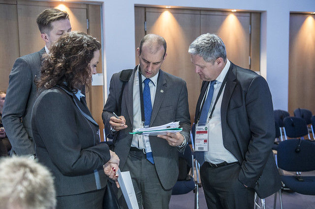 The Lithuanian delegation prepares for Closed Ministerial