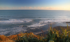 lets get lost (Paul J's) Tags: sunset beach landscape dusk coastal tasmansea taranaki kaupokonui