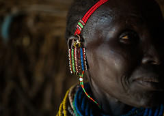 Nyangatom tribe woman earrings, Omo valley, Kangate, Ethiopia (Eric Lafforgue) Tags: africa people color horizontal outdoors necklace women day adult african decoration jewelry tribal headshot indoors blackpeople bead omovalley earrings tradition ethiopia tribe ethnic cultural oneperson jewel developingcountry ethnicity hornofafrica ethiopian eastafrica abyssinia traditionalclothing realpeople blackskin beadednecklace bume onewomanonly 1people indigenousculture africanculture ethnicgroup bodyadornment nyangatom kangate blackethnicity ethiopianethnicity kangatan ngakaaly ethio161684