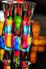 Crystal Candlestick Holders #2 (WilliamND4) Tags: light colors 50mm nikon colorful crystal vivid candlestick nikond750