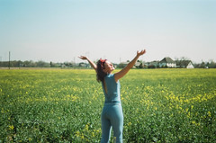 46560034 (Lkimngnnnnnnn) Tags: field rural deutschland human portrait yellow girls filmisnotdead filmphotography istillshootfilm outdoor
