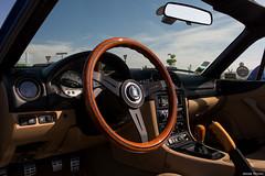 Mazda MX5 - LaserBlue (Jerome Goudal) Tags: wood black classic wheel nikon with steering spokes sigma nb mazda miata mx5 roadster 1835 kouki nardi 24a laserblue marumi 340mm nbfl  driftworks worldcars nb2 nb8c mx5i d7200 topmiata longlivetheroadster drivingmatters queenofroadsters mx5international wwwmx5internationalcom 5061342000