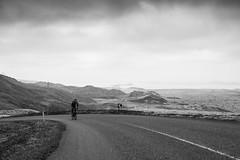 DSC07702 (Gumundur Rbert) Tags: sky white mountain black 35mm cycling climb iceland cloudy f14 sony climbing rolf prima reykjavk sland ares a7ii pansonic samyang reihjl rokinon