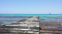 Formentera (Julyyaa) Tags: sea summer espaa mar spain agua paradise mediterranean natural embarcadero verano formentera paraiso spanien mediterrneo baleares balears illesbalears islasbaleares