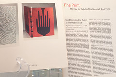 Fine Print: The Review of the Arts of the Book (The Book Club of California) Tags: sf sanfrancisco san francisco exhibition calligraphy letterpress bookbinding bcc typedesign bookarts fineprint woodengraving exhibitionart finepress bookclubofcalifornia fineprintmagazine bookclubofca