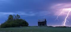 Boom! (Len Langevin) Tags: old summer house canada storm abandoned weather clouds wow nikon farm alberta strike lightning prairie nikkor thunder d300 18300
