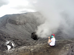 Mount Bromo, East Java, Indonesia (The Traveling Wop) Tags: travel indonesia volcano java cool asia adventure backpacking crater eruption bromo gopro