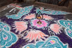 Peacock India kolam center.jpg (melissaenderle) Tags: kolam asia design tamilnadu