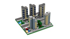 Section DownTown Edge 3 back (RedRoofArt) Tags: lego moc mini micro pico pica city building flat architecture