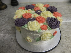 Buttercream Flower Birthday Cake (Sugar Flower Gardener) Tags: birthday flowers icing sponge buttercream sugarflowergardener