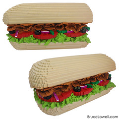 LEGO Subway Sandwich Meal (bruceywan) Tags: fountain subway lego drink bruce sandwich chips potato soda lays lowell moc bruceywan brucelowellcom
