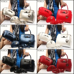 Import @290 Bag Furla 6688 3in1 26x22x14cm 1,1kg Kulit GHW #Ayuri#Semipremium#Black#Blue#Pink#White#Gold#Red#Maroon (merboutique) Tags: pink blue red white black gold maroon ayuri semipremium